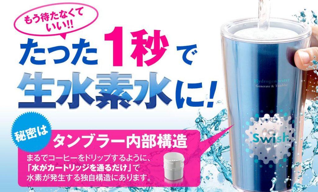 水素水タンブラー スウィッシュ(swish)でお手軽水素水